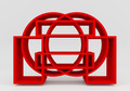 Color red bookshelf circle - PhotoDune Item for Sale