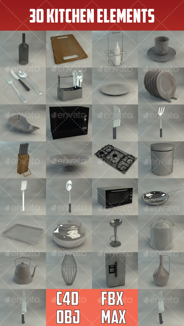 30 Kitchen Elements