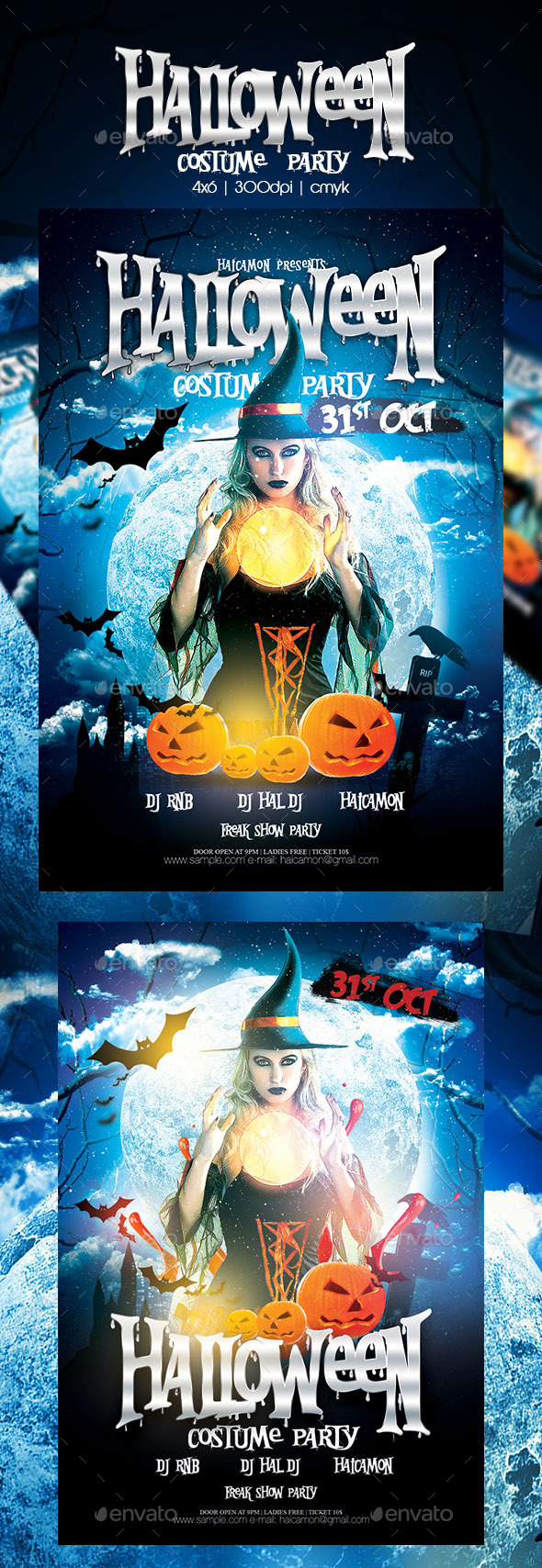 GraphicRiver Halloween Party Flyer 8971639