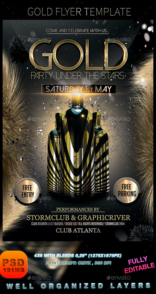 GraphicRiver Gold Flyer Template 8971645