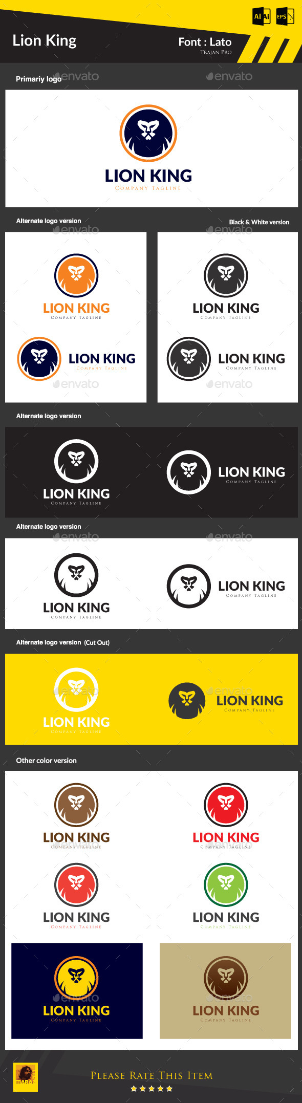 GraphicRiver Lion King 8961561