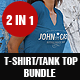 Female T-Shirt and Tank Top Bundle - GraphicRiver Item for Sale
