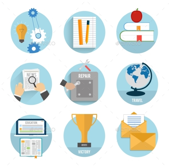 GraphicRiver Business Office and Marketing Icons 8972151
