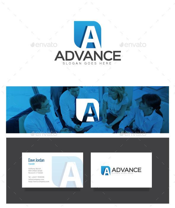 GraphicRiver Advance Letter A Logo 8972247