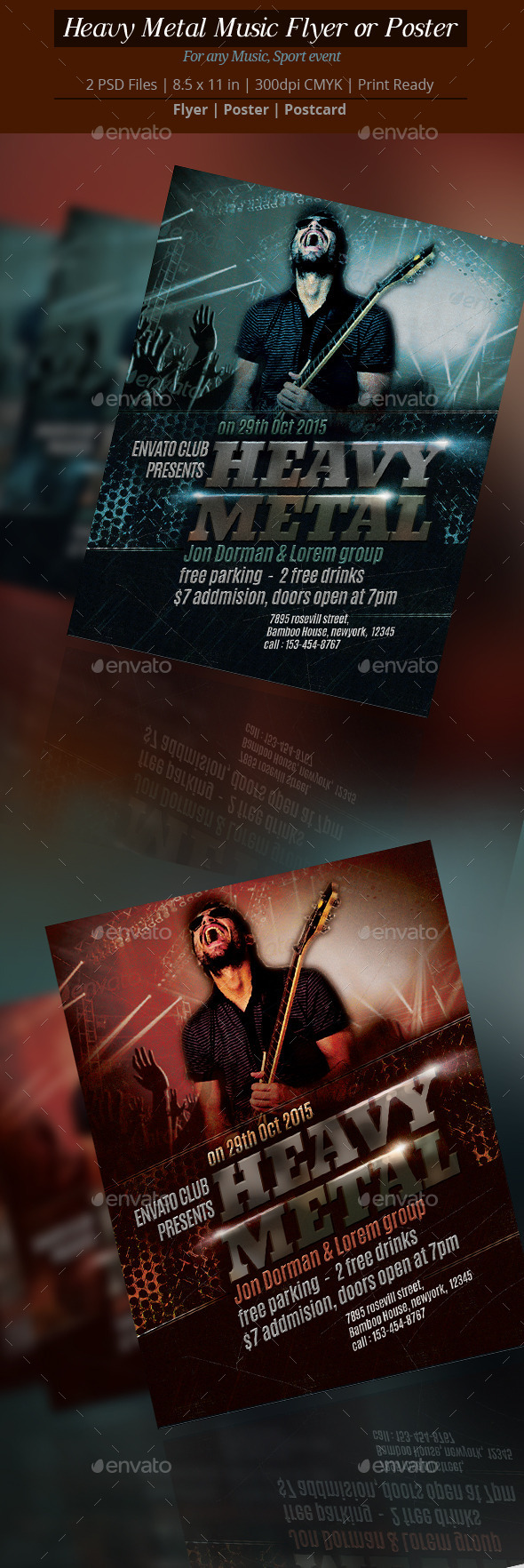 GraphicRiver Heavy Metal Music Flyer or Poster 8972455