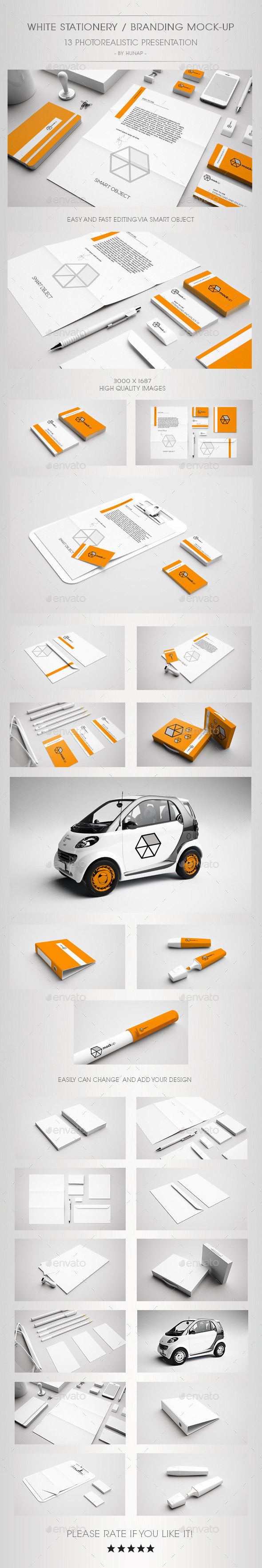 GraphicRiver White Stationery Branding Mock Up 8972646