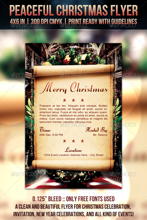 GraphicRiver Peaceful Christmas Flyer 915840