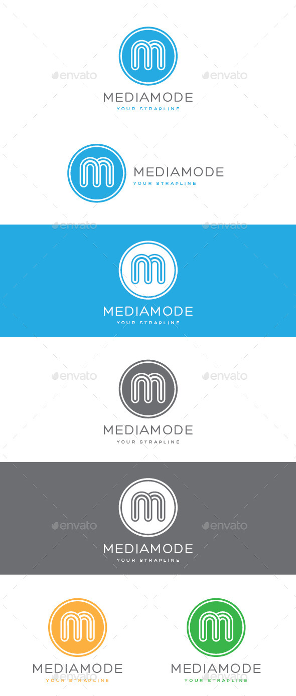 GraphicRiver Media Mode Letter M Logo 8972825