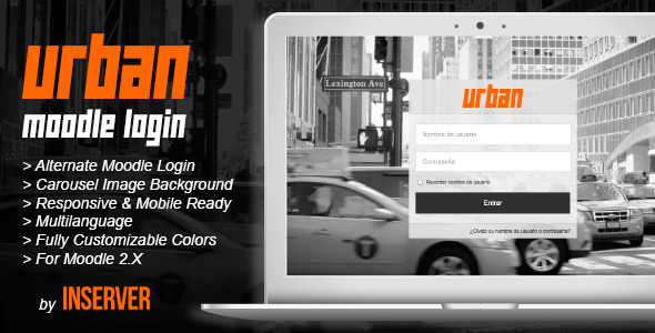 CodeCanyon URBAN Alternate Moodle Login Form 8851104