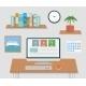 Modern Office Interior with Designer Desktop - GraphicRiver Item for Sale