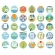 Traveling and Planning Summer Vacation Icons - GraphicRiver Item for Sale