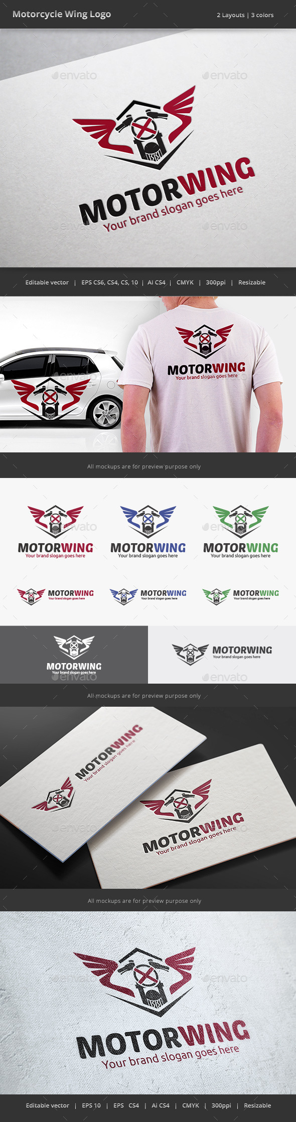GraphicRiver Motorcycle Wing Logo 8973297