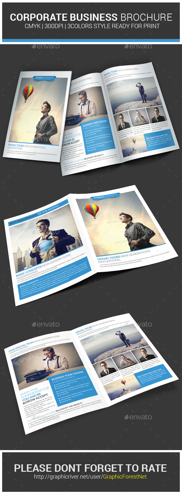 GraphicRiver Corporate Business Brochure Psd Template 8973383