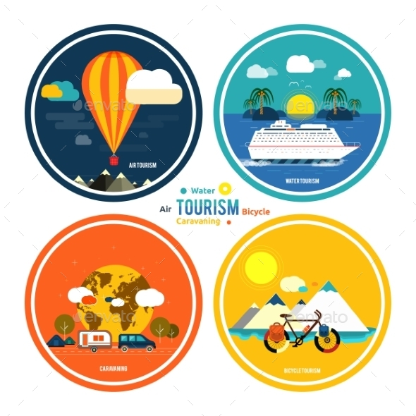 GraphicRiver Set of Traveling and Planning a Summer Vacation 8973505