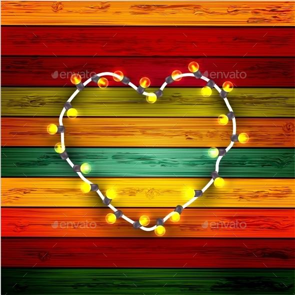GraphicRiver Modern Garland Heart 8973524