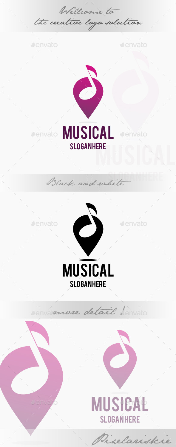 GraphicRiver Musical Point Logo 8973670