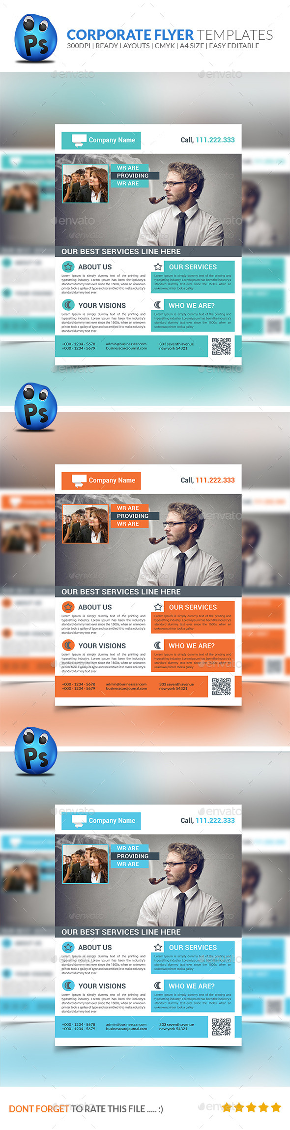 GraphicRiver Corporate Business Flyer Template 8925412