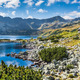 Mountain lake in 5 lakes valley in Tatra Mountains, Poland. - PhotoDune Item for Sale