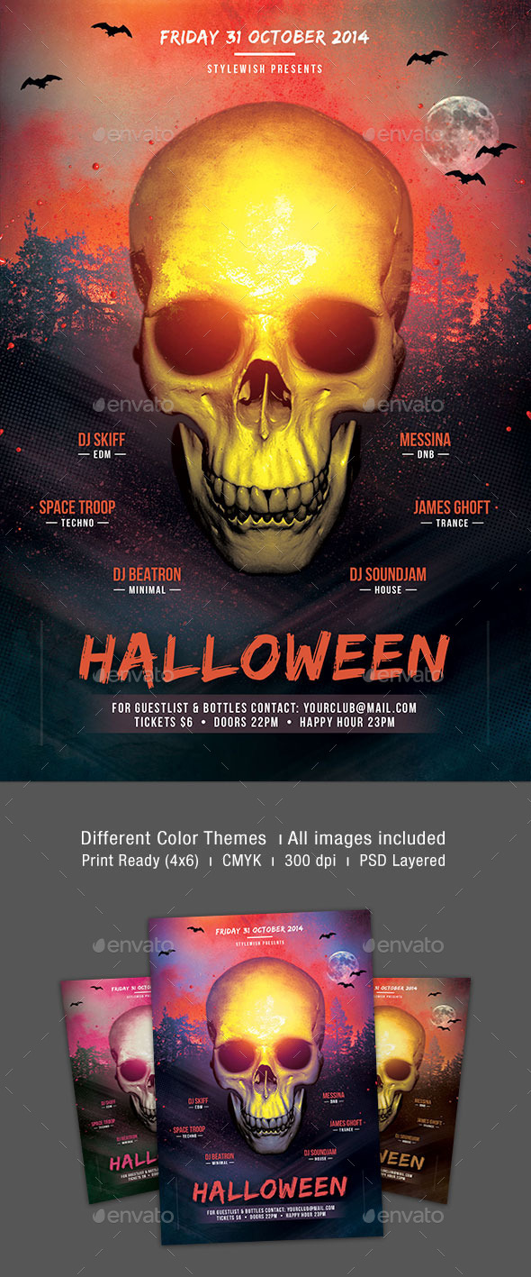 GraphicRiver Halloween Party Flyer Template 8973812