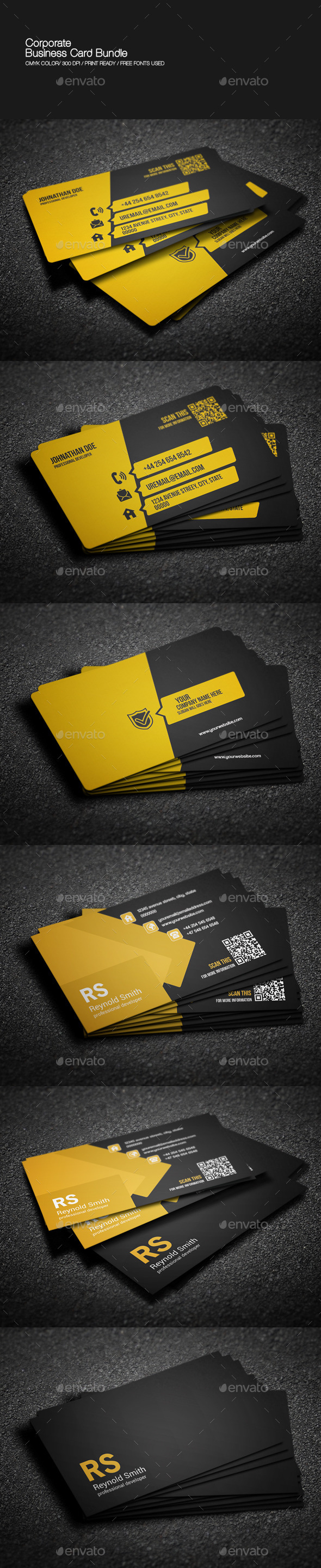 GraphicRiver Corporate Business Card Bundle 8973816