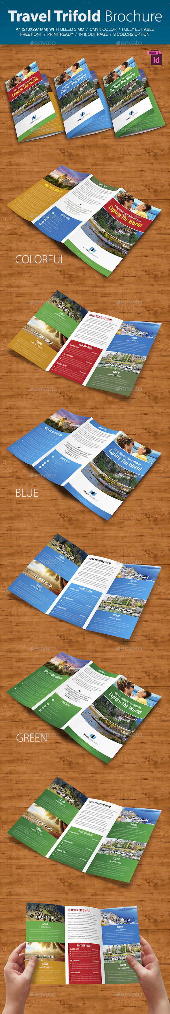 GraphicRiver Travel Trifold Brochure V.2 8974032