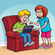 Boy and Girl Using a Digital Tablet - GraphicRiver Item for Sale