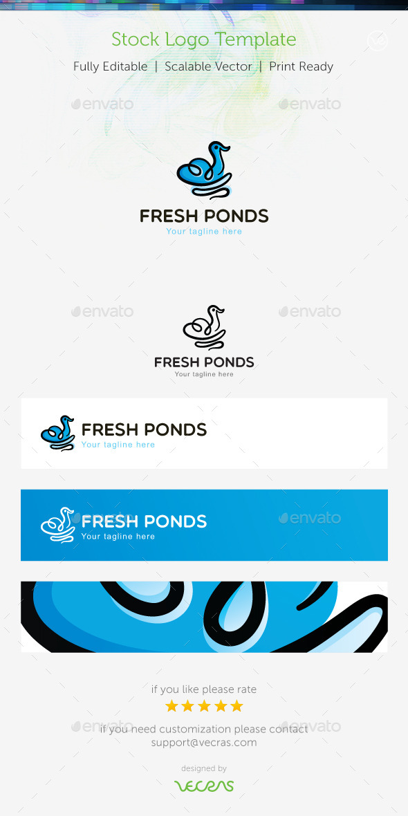 GraphicRiver Fresh Ponds Stock Logo Template 8974152