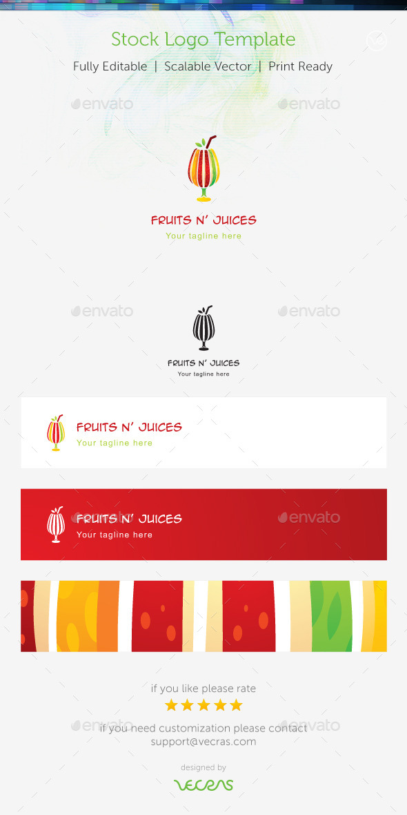GraphicRiver Fruit n Juices Stock Logo Template 8974233
