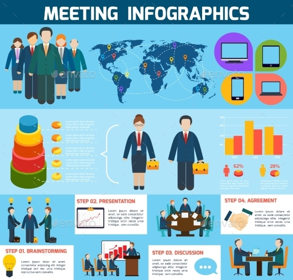 GraphicRiver Business Meeting Infographics 8974292
