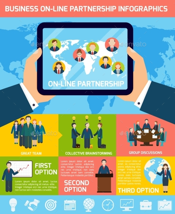 GraphicRiver Business Partnership Infographics 8974295