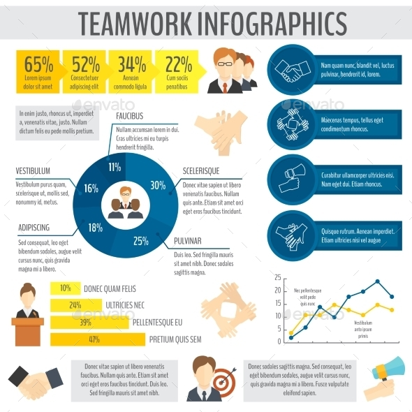 Business Teamwork Infographic