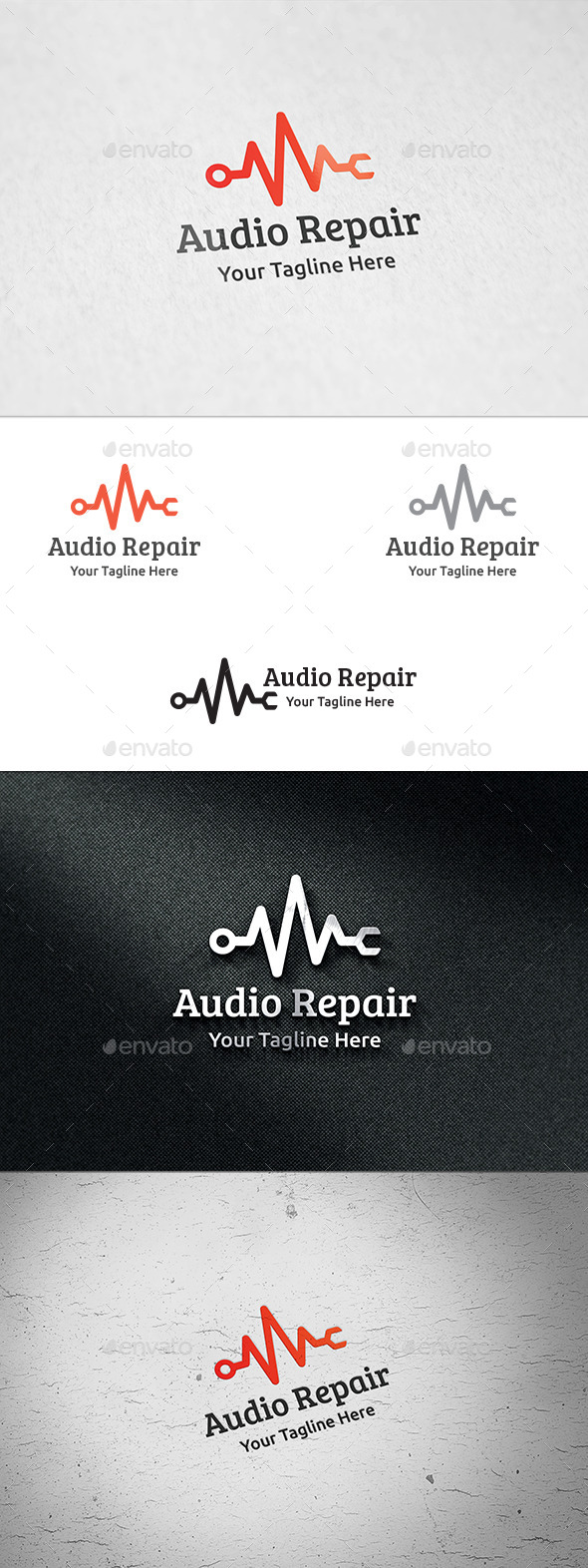 GraphicRiver Audio Repair Logo Template 8974332