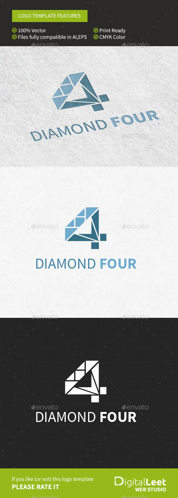 GraphicRiver Diamond Four Logo Template 8974373