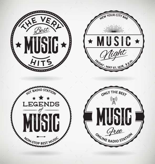 GraphicRiver Music Badges 8974508