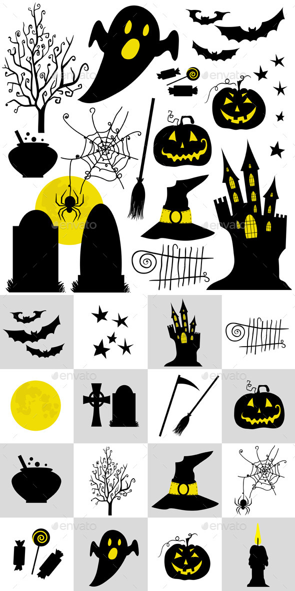 GraphicRiver Halloween Set Symbols 8974522