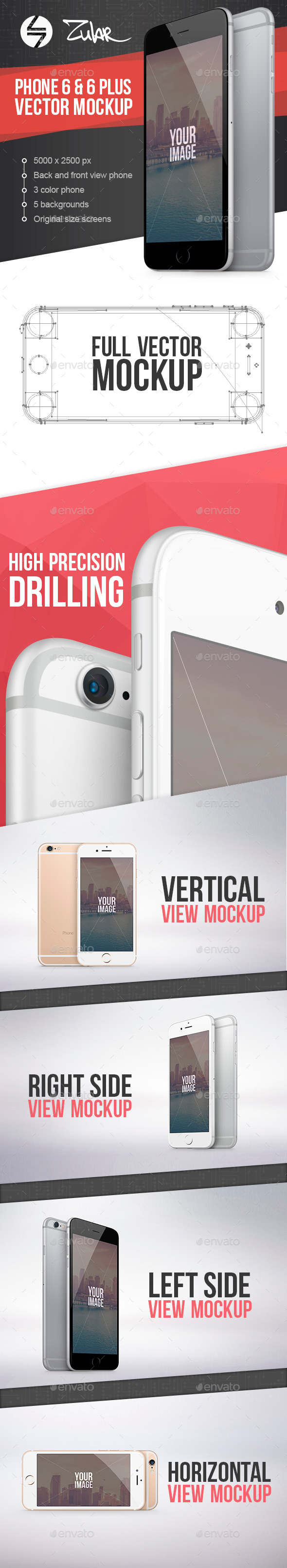 GraphicRiver Phone 6 & 6 Plus Vector Mockup 8962062