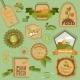 Eco Labels Vegetables - GraphicRiver Item for Sale