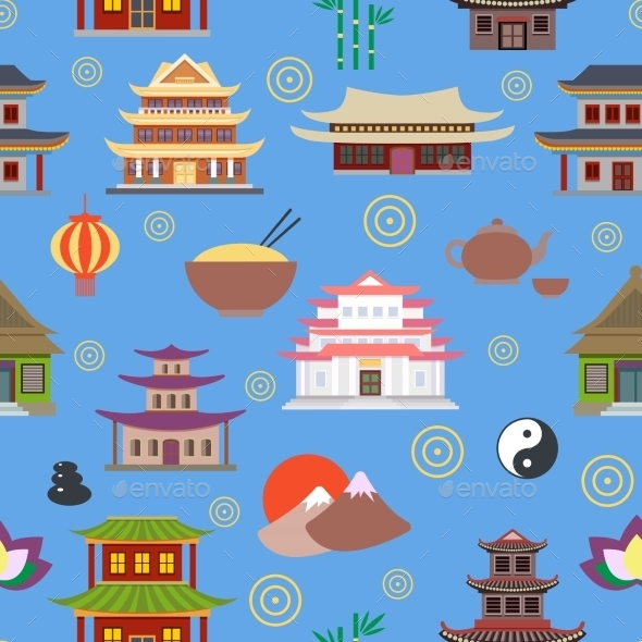 GraphicRiver Chinese House Seamless Pattern 8974602