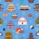 Chinese House Seamless Pattern - GraphicRiver Item for Sale