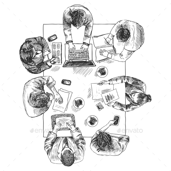 GraphicRiver Business Meeting Top View 8974635
