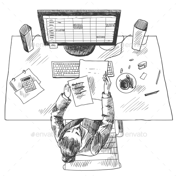 GraphicRiver Accountant Work Place 8974639