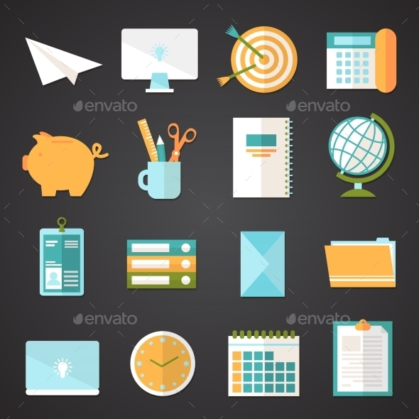 GraphicRiver Office Icons Set 8974647