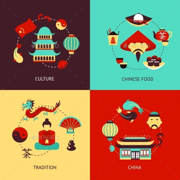 GraphicRiver China Illustration Set 8974656