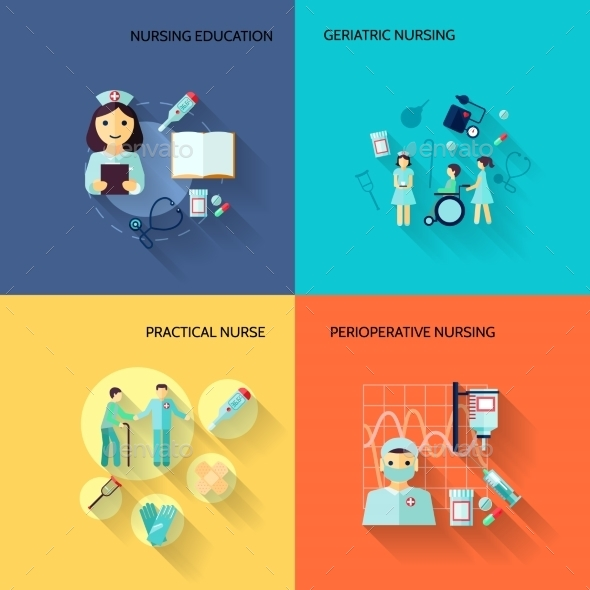 GraphicRiver Nurse Icon Set Flat 8974682
