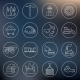 Coal Industry Icons Outline - GraphicRiver Item for Sale