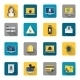 Hacker Icons Flat Buttons - GraphicRiver Item for Sale