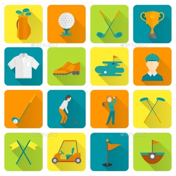 GraphicRiver Golf Icons Set 8974695