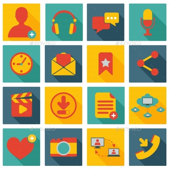 GraphicRiver Social Network Icons 8974714