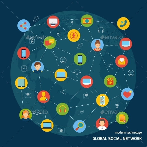 GraphicRiver Social Network Concept 8974720