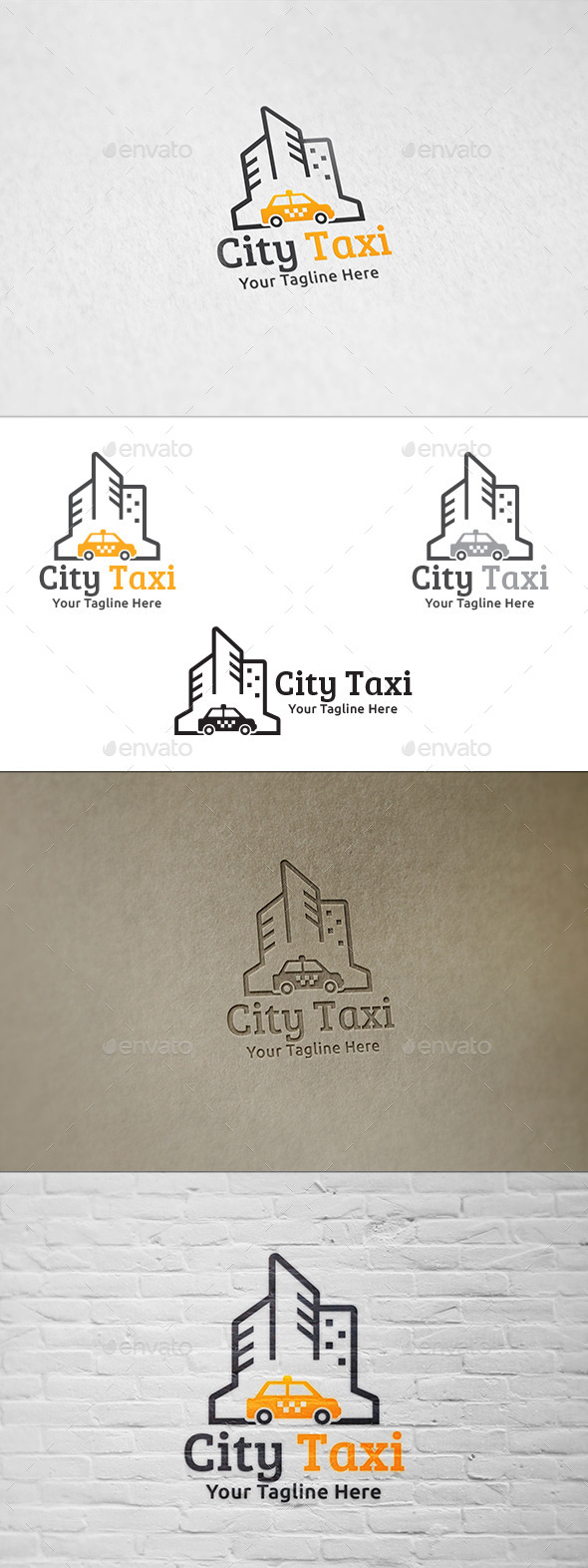 GraphicRiver City Taxi Logo Template 8974764